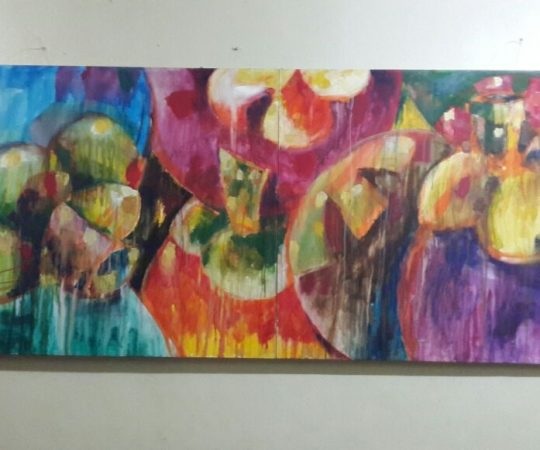 Visited a teacher artworks in Kuantan school